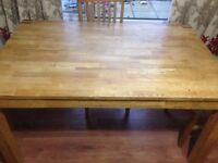 Used Original Oak extendable dining table only- 4 to 6 chairs - Chairs not included