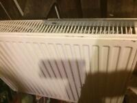 Double radiator with brackets width 800mm x height 600mm