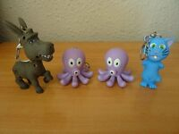 4 X ANIMAL KEYRINGS FOR KIDS - WITH LIGHT AND SOUND - GOOD PARTY PRIZES!
