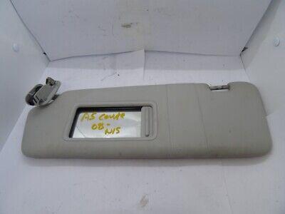 *AUDI A5 8T 2008-2011 GREY PASSENGER LEFT SUN VISOR WITH LOOM 8K0857551