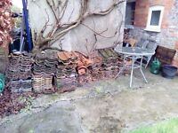 Approx 100 - 140 Reclaimed Double Roman Roof Tiles