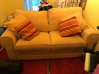 Yellow sofa bed