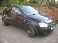 Vauxhall Corsa, 2005, black, 3 door, petrol