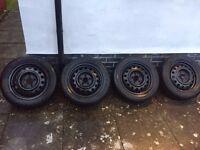 "Michelin Alpin A4 winter/snow tyres on 16"" steel wheels. Kia, Hyundai etc. 6.0x16, 5x114.3, ET51."