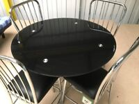glass table and chairs dining table and chairs