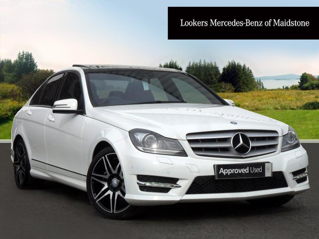 mercedes benz c class c250 cdi blueefficiency amg sport plus white 2013 10 30 in maidstone. Black Bedroom Furniture Sets. Home Design Ideas