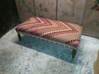 kilim upholstered footstool ottoman coffee table kilim furniture handmade kilim fabric surrey