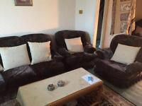Sofa, couch arm chair, table