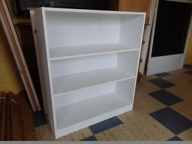 White shelving cupboard