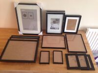 16 Black Picture Frames - Ikea, Habitat, Paperchase - Various Sizes - Make a Gallery Wall