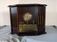 Vintage-Collection-Gramophone cassette 4 in 1 Radio, Tape Cassette, CD & Record