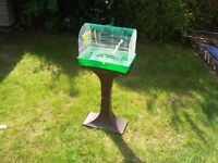 Two Bird Cages with Stand for Budgies / Budgie