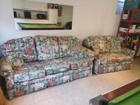 3 & 2 Seater Fabric Sofas for free