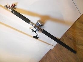 german telescopic rod with reel 100-200 gram casting weight