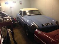 WANTED MGB Roadster or MGB G T for spares or restoration. Anything considered. Rapid cash collection