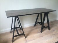Trendy trestle table style desk