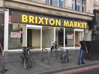 Lock Up Shop Units/ To Let-Rent/ Brixton Market-422 Brixton Road SW9 7AY