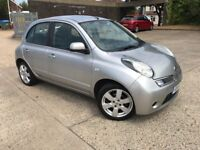 2010 Nissan Micra 1.2 Acenta 5 Doots Automatic Long MOT Service History Good Condition Smooth Drive