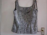 Littlewoods Eveningwear Greeny/Gold Vest Top