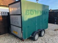 Twin axle braked box trailer (ex. Bowman removals trailer)
