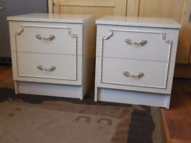 Two White Bedside Cabinets ''HAMMONDS''