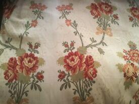 Pair of Cream Floral Curtains