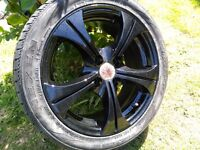 "15"" 4x100 Wolfrace alloy wheels excellent condition"