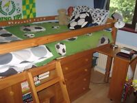 Childs Pine Cabin Bed with Storage