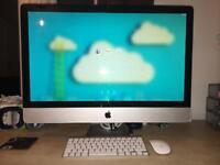 Apple iMac 27-inch Mid 2011 Quad-core i5 2.7GHz 4GB Ram 1TB keyboard mouse Mac