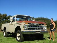 1965 American Ford F250 4x4 Pickup Amazing Original Paint Survivor Truck No Rust for sale  Ashburton, Devon