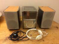 Edinburgh, Stockbridge - Panasonic CD & Cassette Stereo System SA-PM28 & Headphones