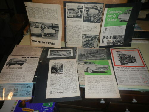LOT OF (19) Vintage 1954 Kaiser automobile print ad Very Nice