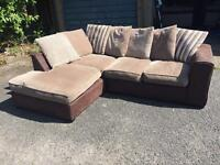Brown n Cream Corner sofa
