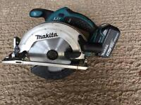 Makita 18v saw with 3ah battery