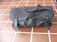 TRADITIONAL STRONG TOOL CARRY CASE - LEATHER.