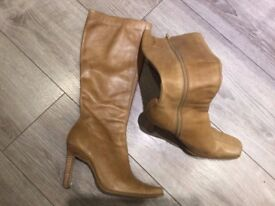 Beige Long Boots (size 6) hardly worn