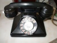 OLD TELEPHONE WITH OXFORD DIRECTORY DISC