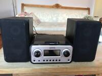 Gear 4 speakers with iPod deck.