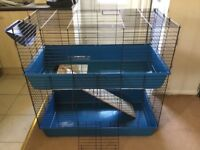 Rabbit Guinea Pig Pet Cage Hutch Indoor Cage With Accessories