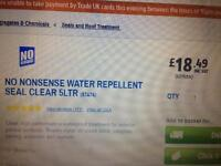 No nonsense water repellent clear 5 litre tins