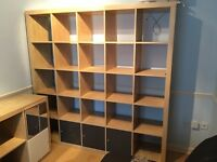 IKEA expedite bookcase & large bookcase/room divider with 5 door inserts