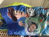 Blow up sleeping bag bed toy story boys