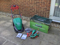 NEW Qualcast Electric Rotary 1600W Hover lawnmower and 320W Grass Strimmer. #FREE LOCAL DELIVERY#