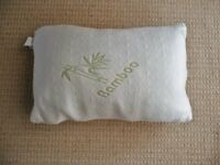 Bamboo Pillow Hotel Comfort Hypoallergenic Memory Foam Support 25 X 16 X 8 inches Bedding