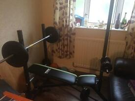 York weights bench and weights