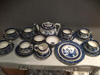 Pre Royal Doulton Tea Set Booths old Real willow Rare 1.75 teapot 9072 a8025