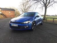 Stunning 2.0 Blue Scirocco, with sports package - HEATED LEATHER SEATS - SAT NAV