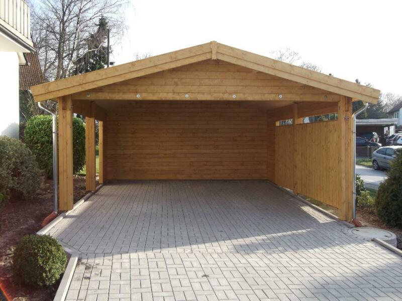 carport doppelcarport satteldach 58mm polarfichte doppelnut in nordrhein westfalen l hne. Black Bedroom Furniture Sets. Home Design Ideas