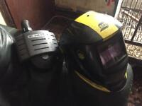 Warrior tech air fed welding helmet