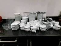 Assorted Cafe Coffee Cups and Glassware